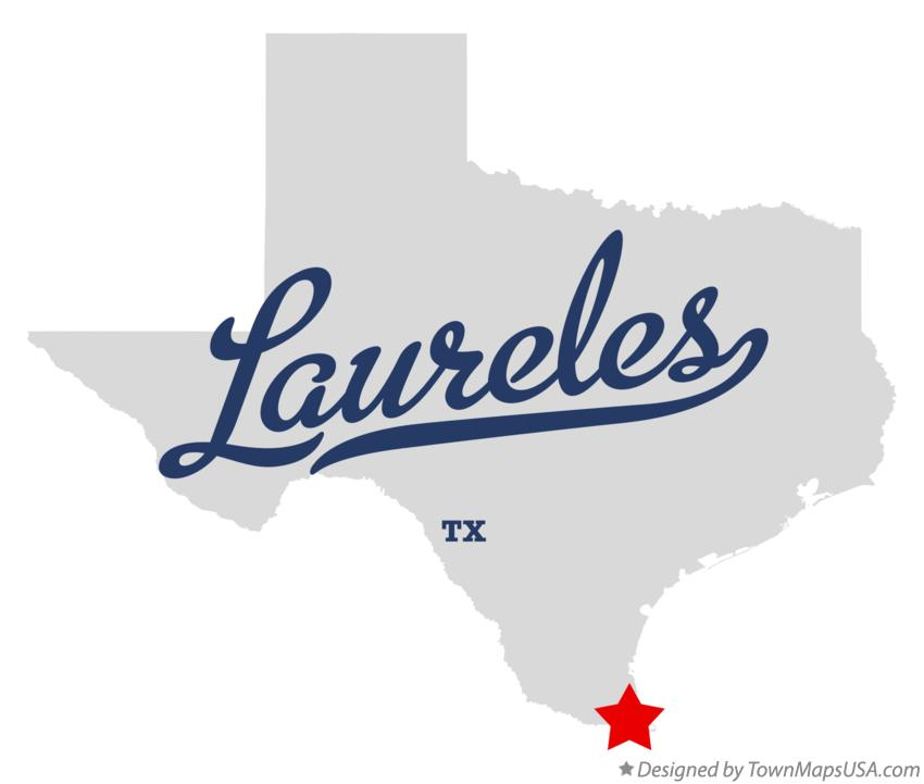 Map of Laureles Texas TX