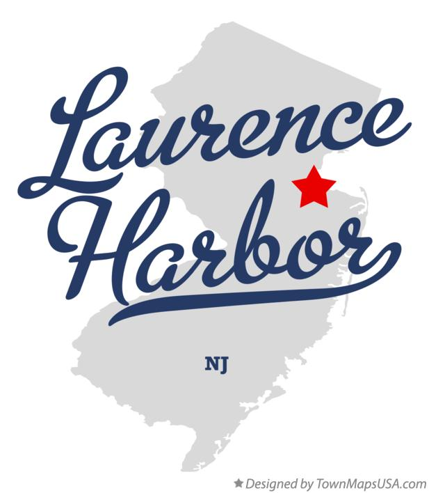 Map of Laurence Harbor New Jersey NJ