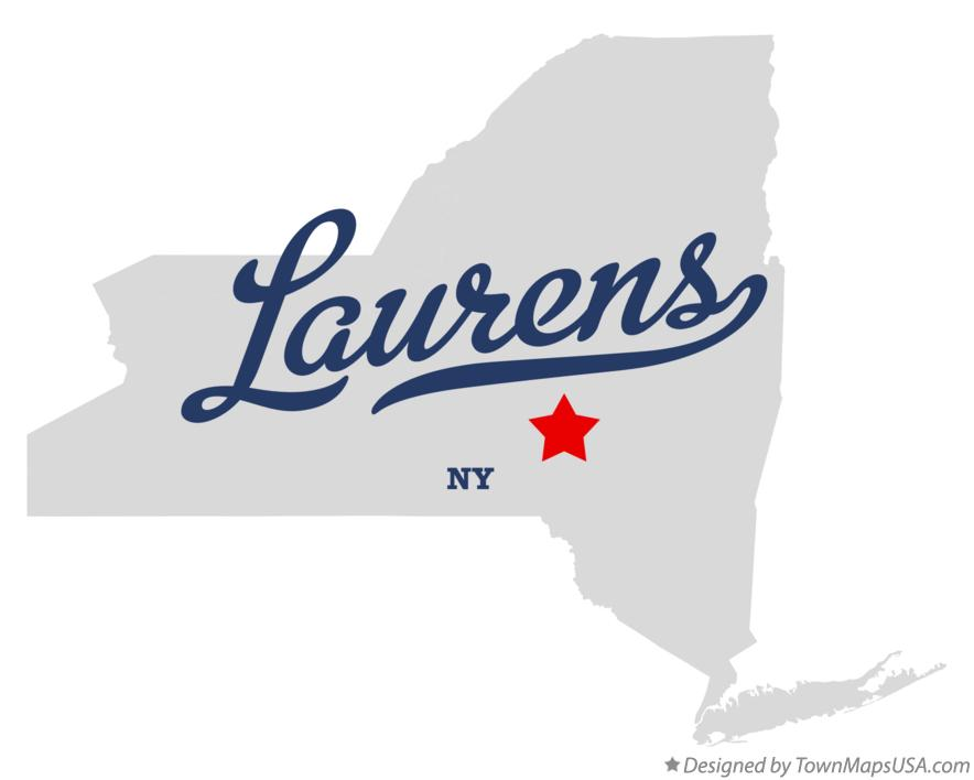 Map of Laurens New York NY