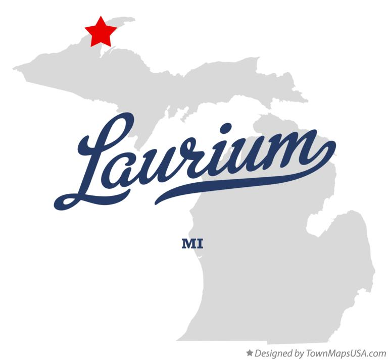 Map of Laurium Michigan MI