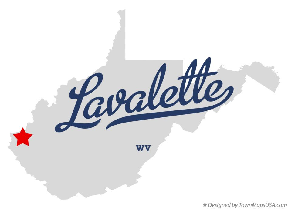 Map of Lavalette West Virginia WV
