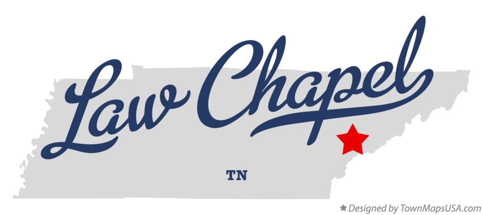 Map of Law Chapel Tennessee TN