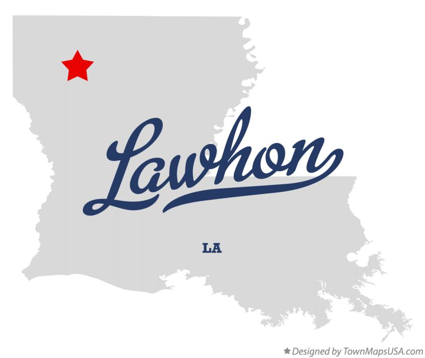 Map of Lawhon Louisiana LA