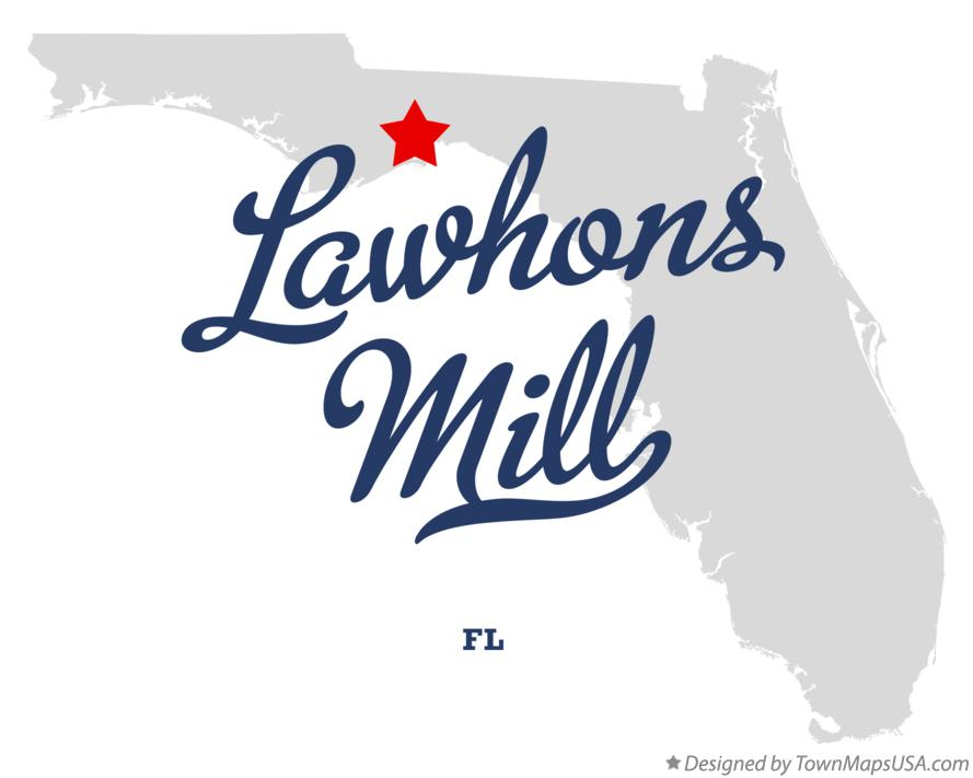 Map of Lawhons Mill Florida FL