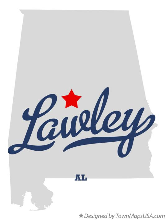 Map of Lawley Alabama AL