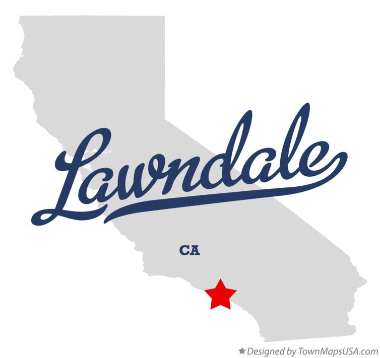 Map of Lawndale California CA