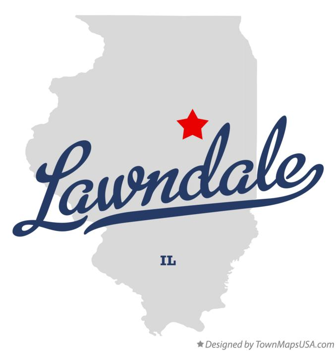 Map of Lawndale Illinois IL