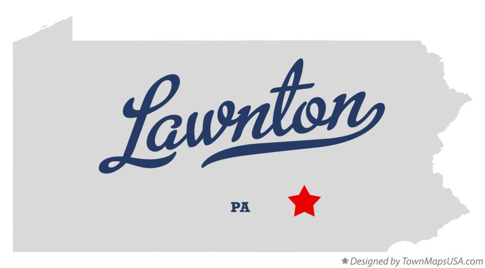 Map of Lawnton Pennsylvania PA