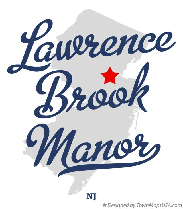 Map of Lawrence Brook Manor New Jersey NJ