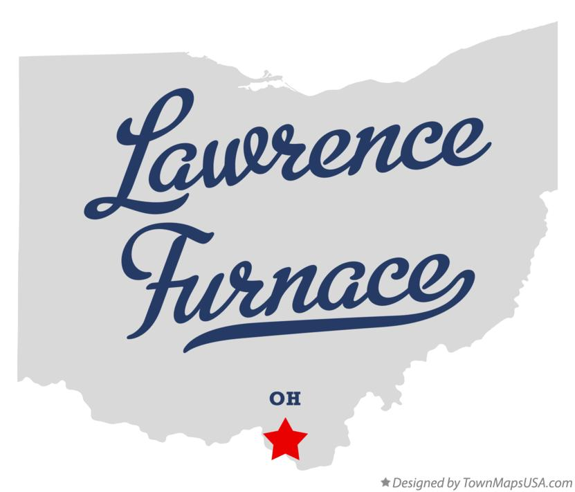 Map of Lawrence Furnace Ohio OH