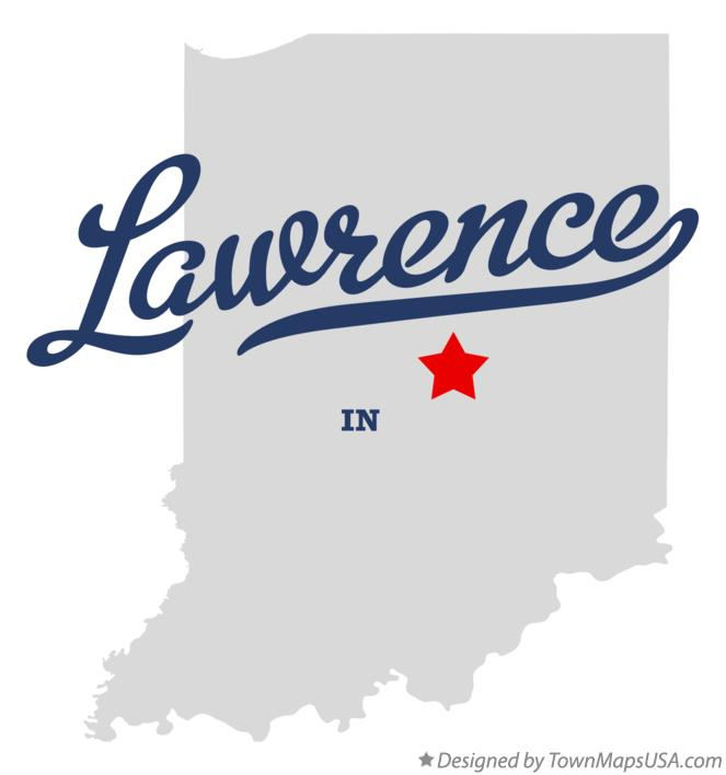 Map of Lawrence Indiana IN