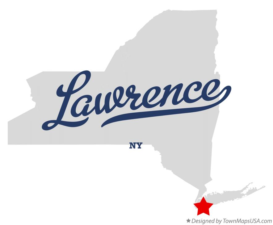 Map of Lawrence New York NY