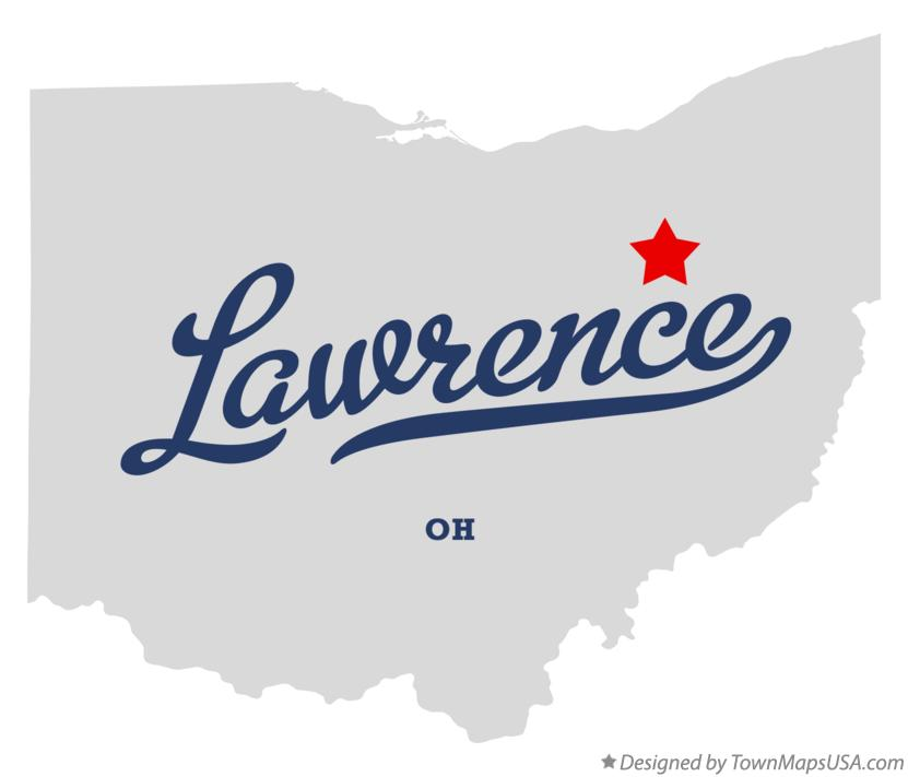 Map of Lawrence Ohio OH