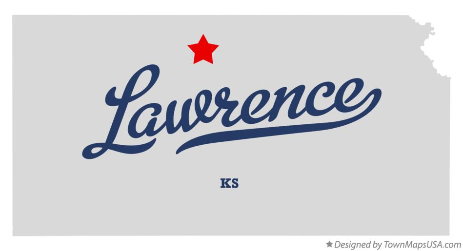 Map of Lawrence Kansas KS