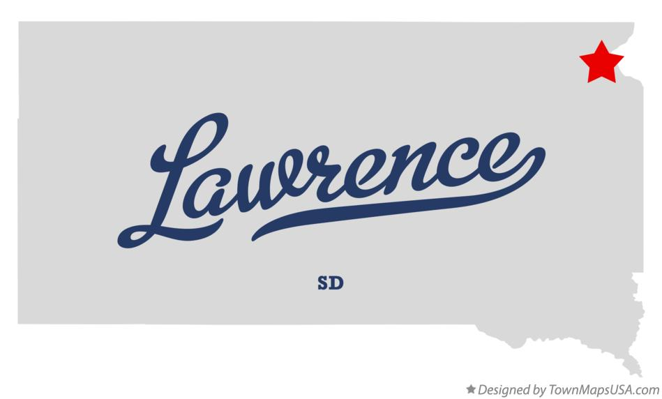 Map of Lawrence South Dakota SD