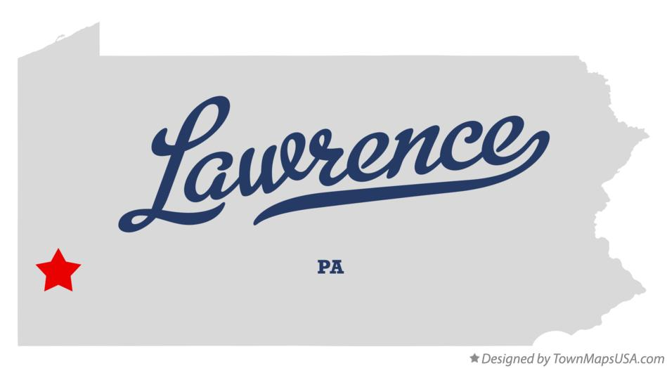 Map of Lawrence Pennsylvania PA