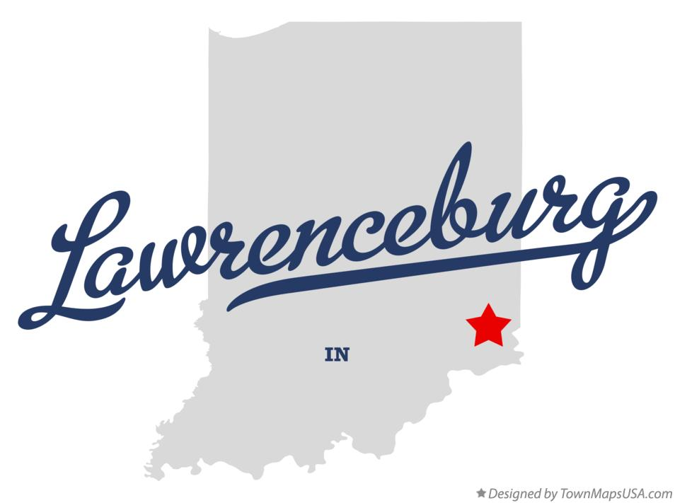 Map of Lawrenceburg Indiana IN