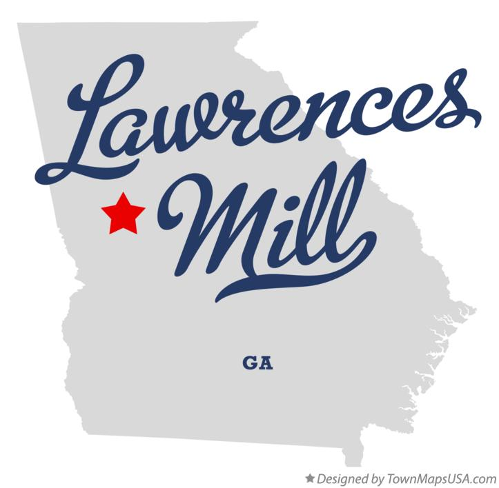 Map of Lawrences Mill Georgia GA