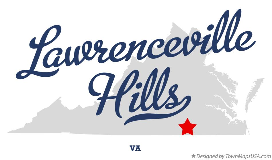 Map of Lawrenceville Hills Virginia VA