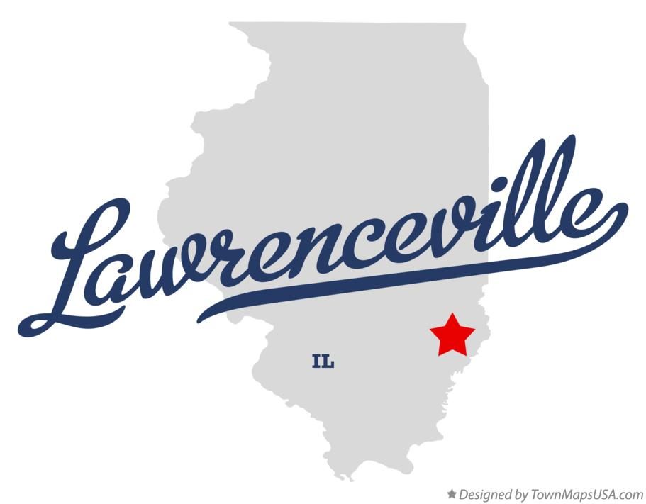 Map of Lawrenceville Illinois IL