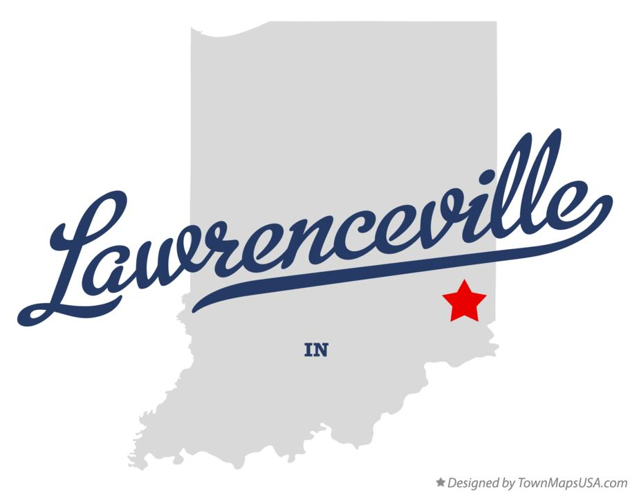 Map of Lawrenceville Indiana IN