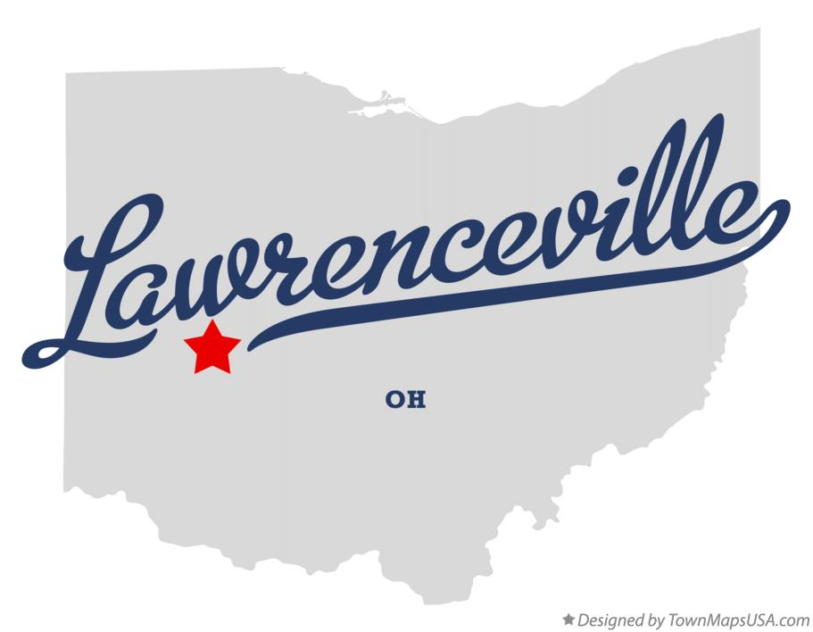 Map of Lawrenceville Ohio OH