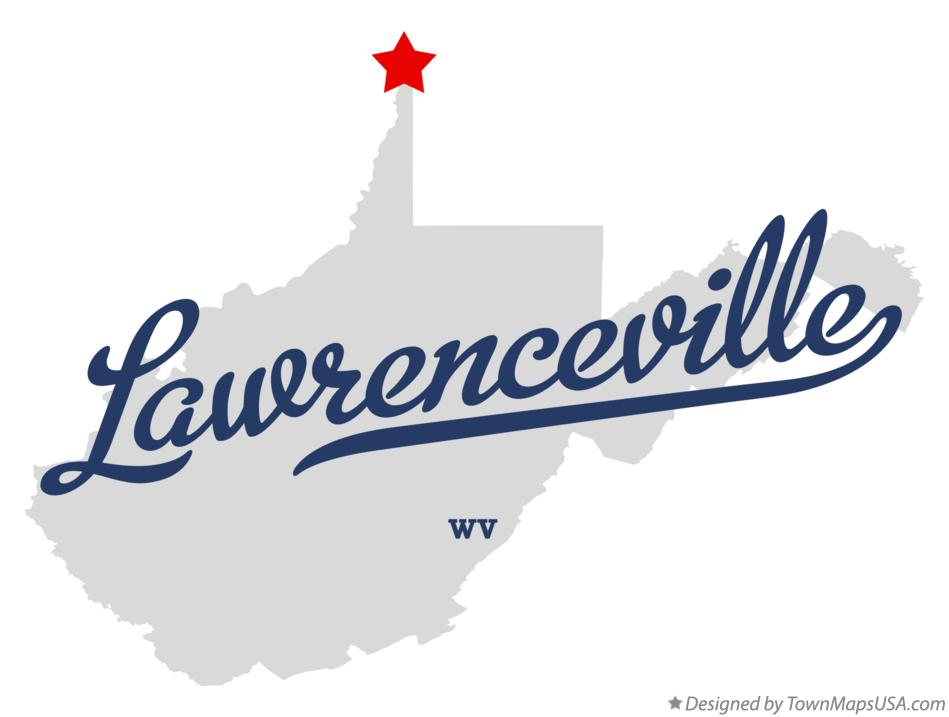 Map of Lawrenceville West Virginia WV