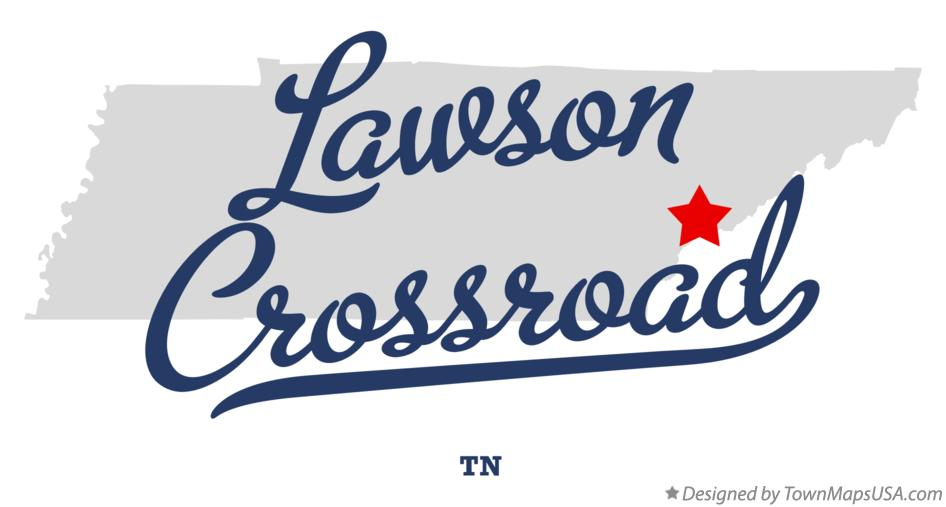 Map of Lawson Crossroad Tennessee TN