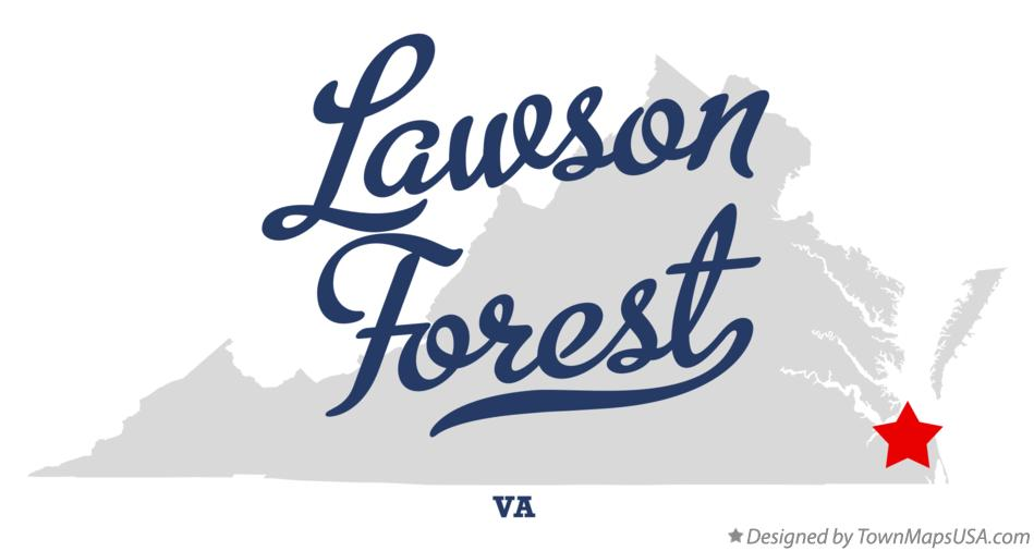 Map of Lawson Forest Virginia VA