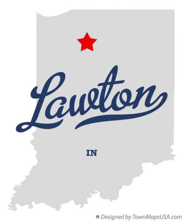 Map of Lawton Indiana IN