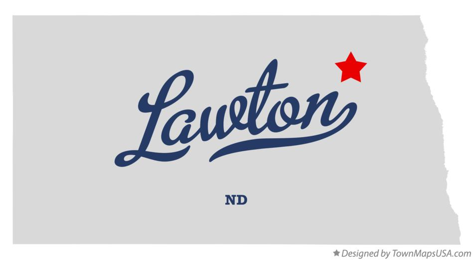 Map of Lawton North Dakota ND