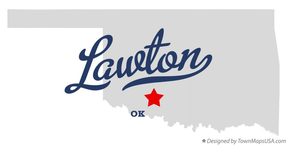 Map of Lawton Oklahoma OK