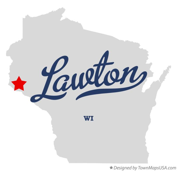 Map of Lawton Wisconsin WI