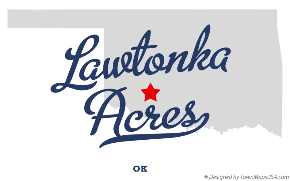 Map of Lawtonka Acres Oklahoma OK