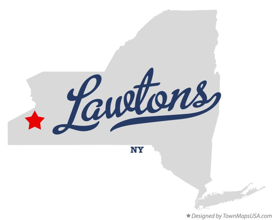 Map of Lawtons New York NY