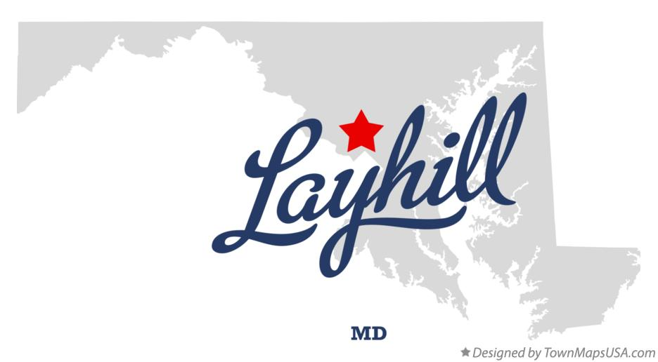Map of Layhill Maryland MD