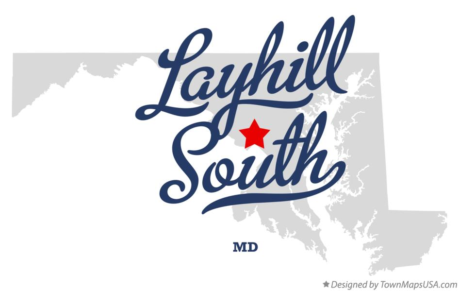 Map of Layhill South Maryland MD