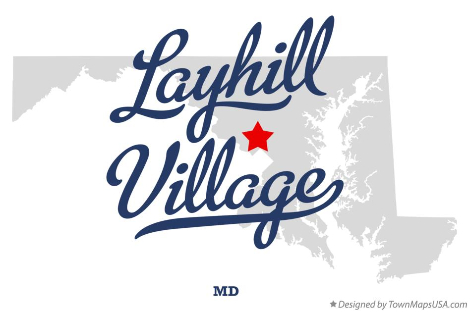 Map of Layhill Village Maryland MD