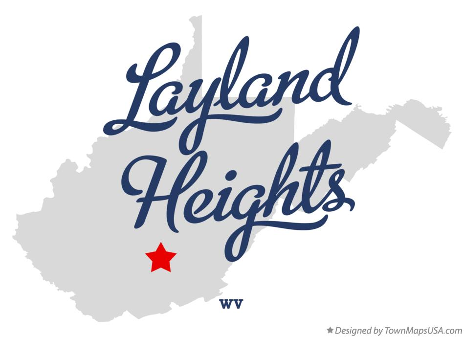Map of Layland Heights West Virginia WV