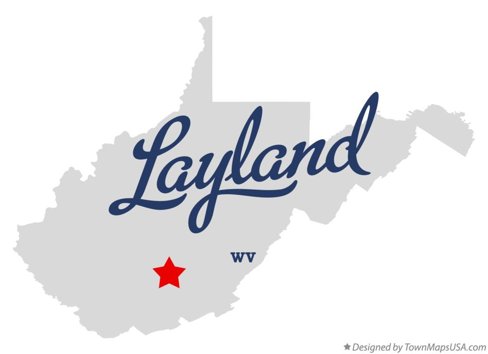 Map of Layland West Virginia WV