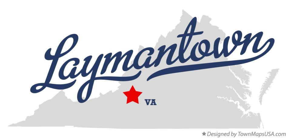Map of Laymantown Virginia VA
