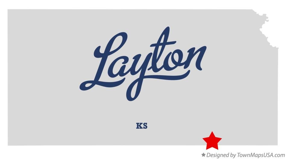 Map of Layton Kansas KS