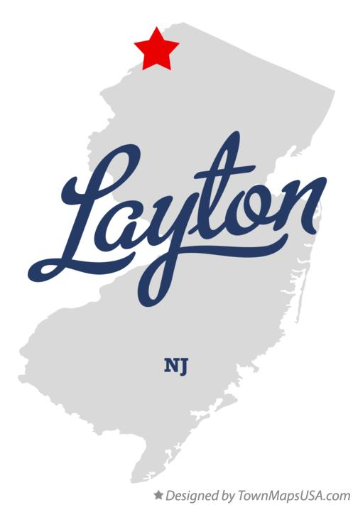 Map of Layton New Jersey NJ