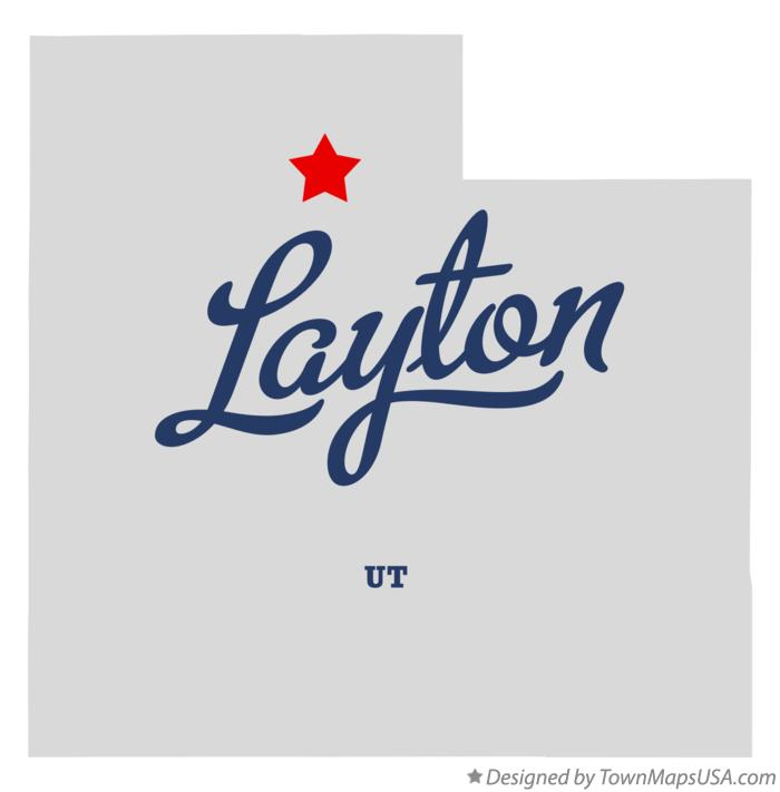 Map of Layton UT Utah