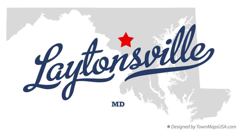 Map of Laytonsville Maryland MD