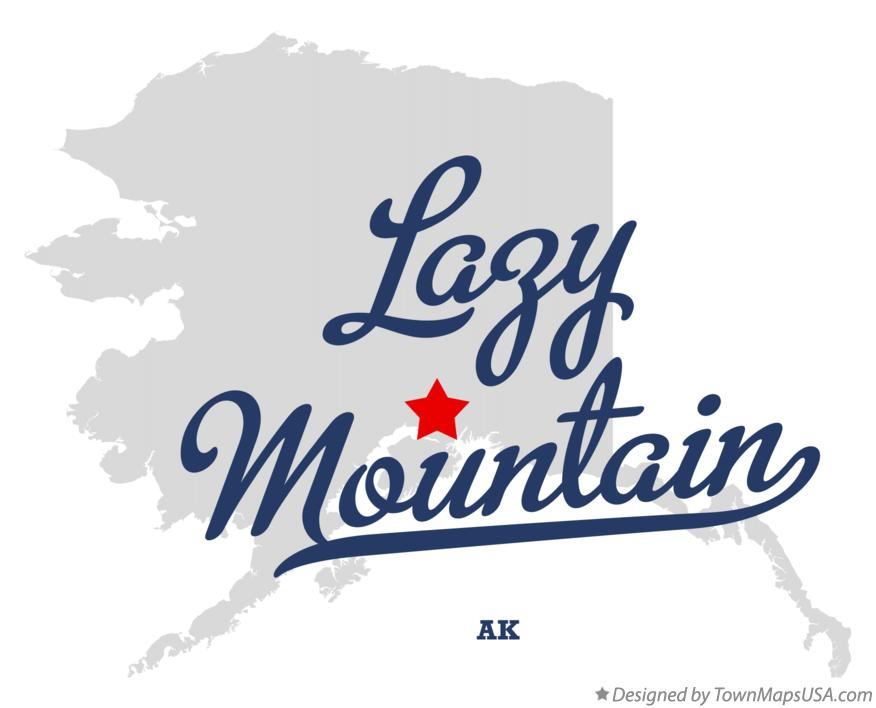 Map of Lazy Mountain Alaska AK