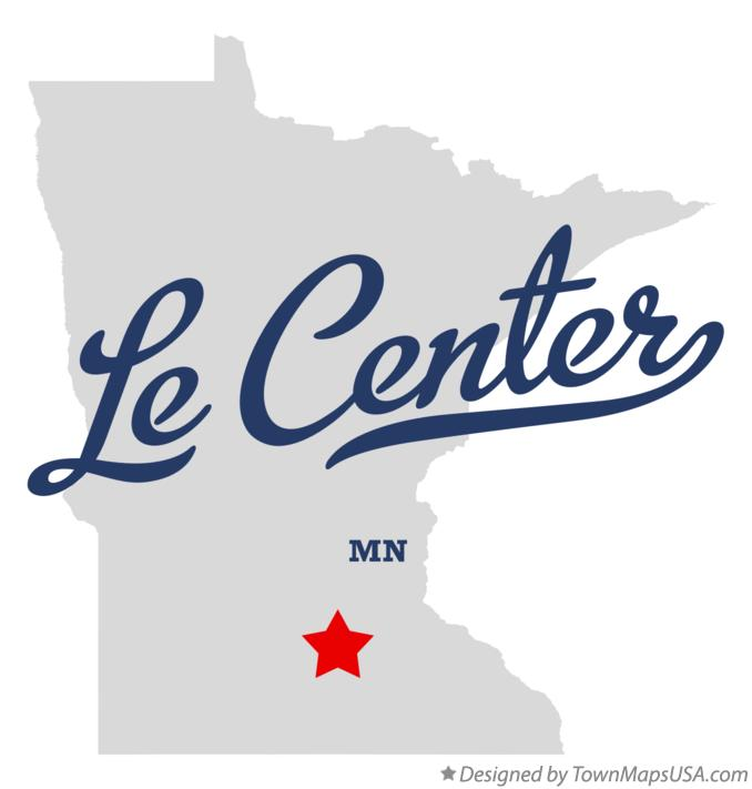 Map of Le Center Minnesota MN