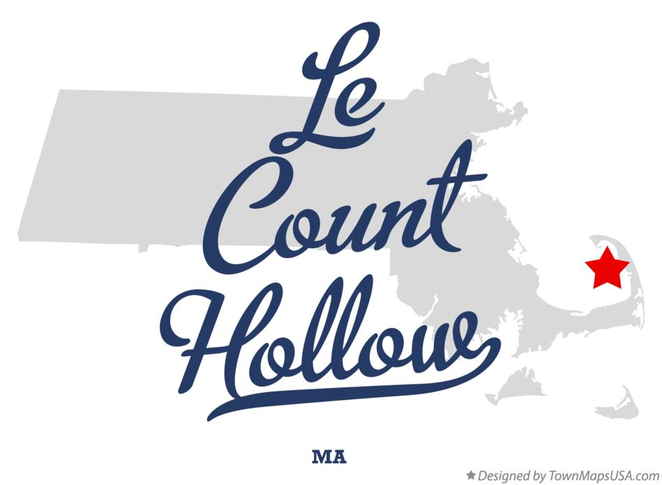 Map of Le Count Hollow Massachusetts MA