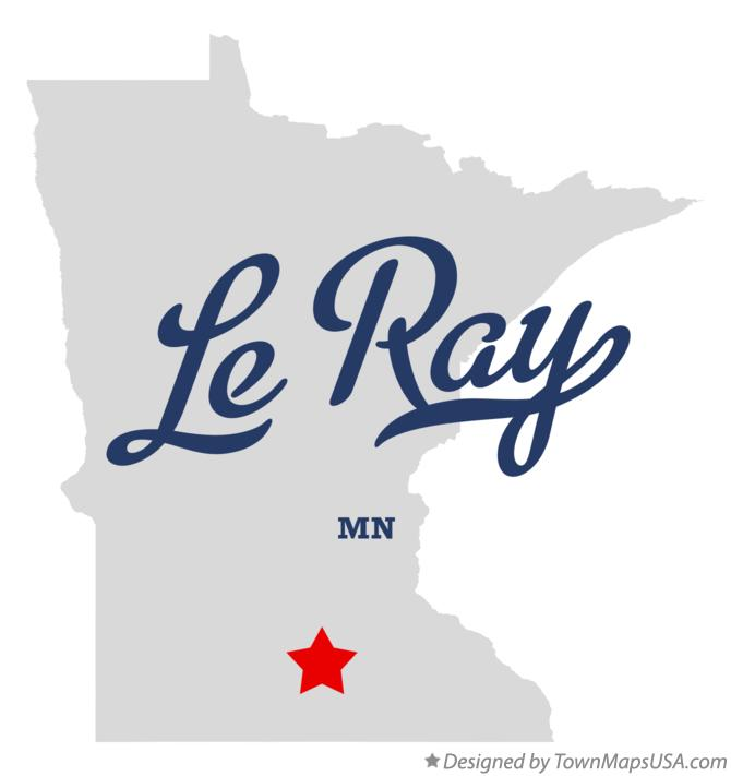 Map of Le Ray Minnesota MN