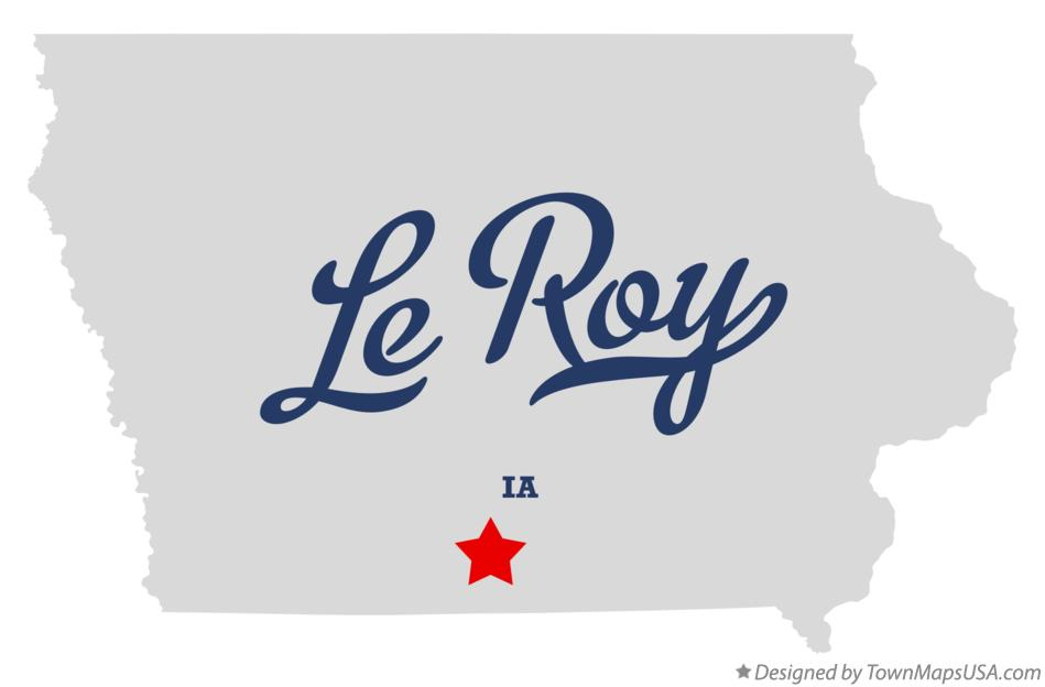 Map of Le Roy Iowa IA